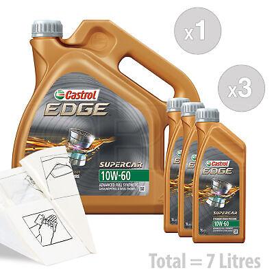 Car Engine Oil Service Kit / Pack 7 LITRES Castrol EDGE Supercar 10W-60 10W60 7L