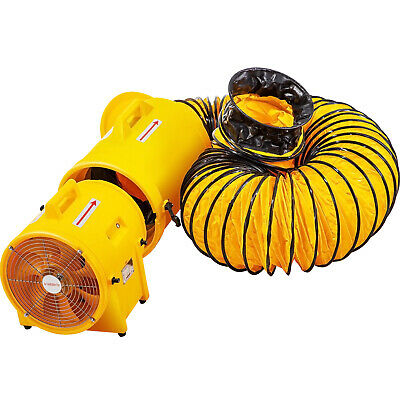 Vevor 8 Plastic Compaxial Blower Confined Space Blower With 26ft Duct Portable