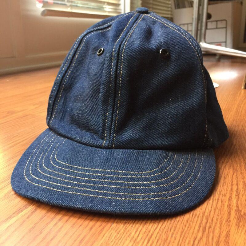 Vintage 60s 1960s Denim Work Wear SnapBack Hat Union Made In USA Unworn Nice!