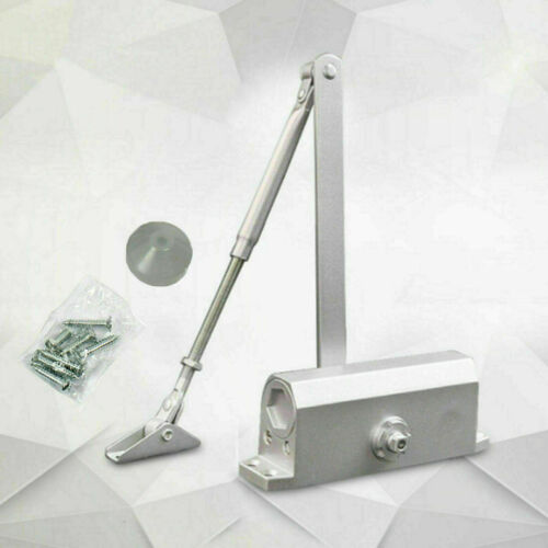 65-85 Kgs Size 4 Commercial Door Closer Silver Aluminium Alloy Heavy Duty