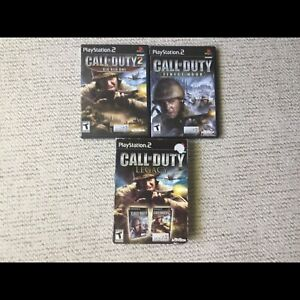 Playstation2 - Call of duty games