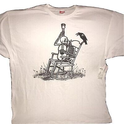 "Element Skateboards Skeleton Grateful Dead T-Shirt XXL White ""Vintage-Very Rare"""