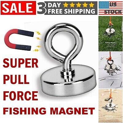 Fishing Magnet Neodymium Super Strong Pull Force Hook Retrieving Treasure Hunt