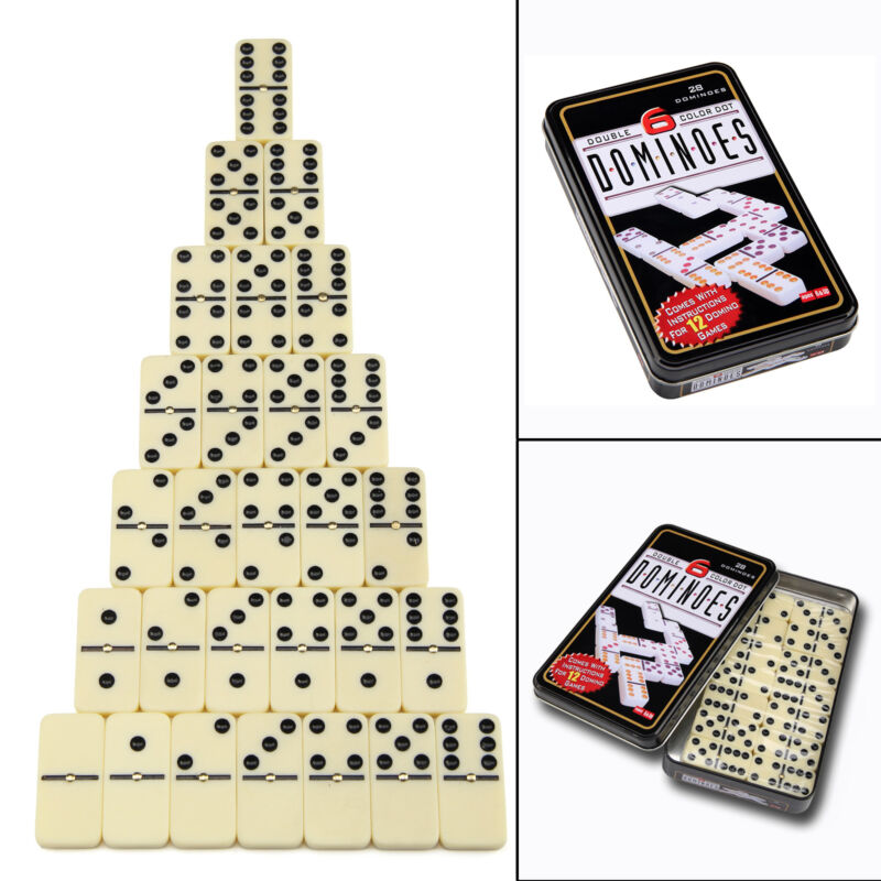 Dominoes 28 Piece Dominoes Set In A Handy Tin Classic Family Games