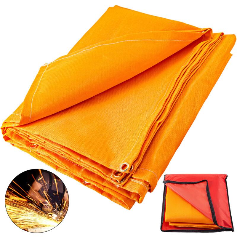 Welding Blanket Fiberglass Blanket 6 x 10 FT Fire Retardant Blanket Orange