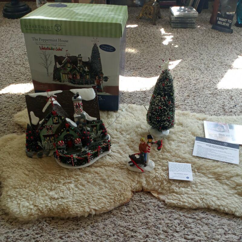 Dept 56 The Peppermint House Christmas Lane Snow Village 56.55350 Retired EUC***
