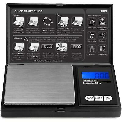 0.01g - 200g Digital Weighing Scales Pocket Grams Small Kitchen Gold Jewellery