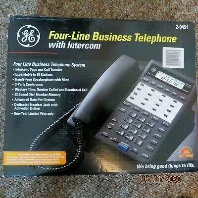 Ge Four Line Business Telephone System With Intercom 2-9451