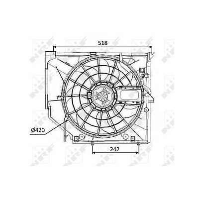 Genuine NRF Engine Cooling Radiator Fan - 47026