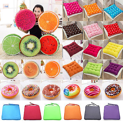 Cushions Tie On Seat Pads Chair Dining Room Kitchen Garden Patio Pillow Outdoor ()