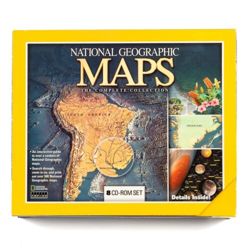 National Geographic Maps The Complete Collection Windows 8 CD-Rom Set 2001 New
