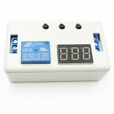 1 Pc 24vdc Led Automation Delay Timer Control Relay Switch Module With Case Usa