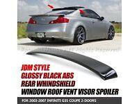 03-07 Carbon Fiber OE style Trunk Spoiler FOR INFINITI G G35 V35 Coupe models