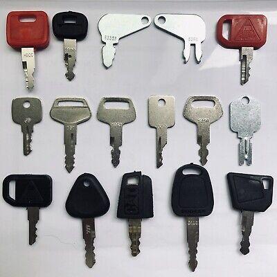 16pc Heavy Equipment Key Set Construction Ignition Keys