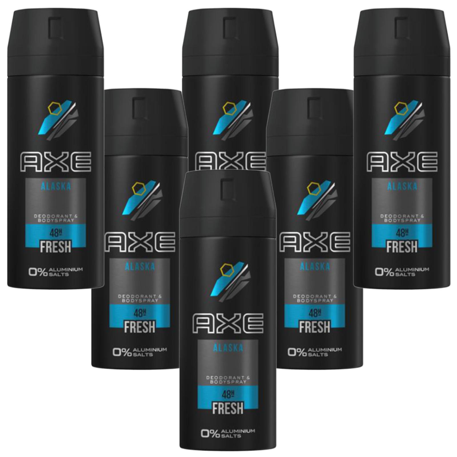 Deo Axe Alaska 6 x 150ml Deospray Deodorant Bodyspray ohne Aluminium Herren