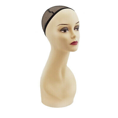 Fashion Jewelry Wig Stand Woman Manequin Head Halloween Decor Prop Display Model