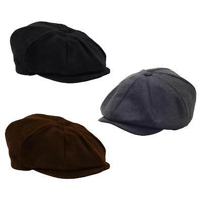Men's 8 Panel NEWSBOY Steampunk Driver Hat Newsies Costume Black Brown Grey Gray - Black Newsboy Hat