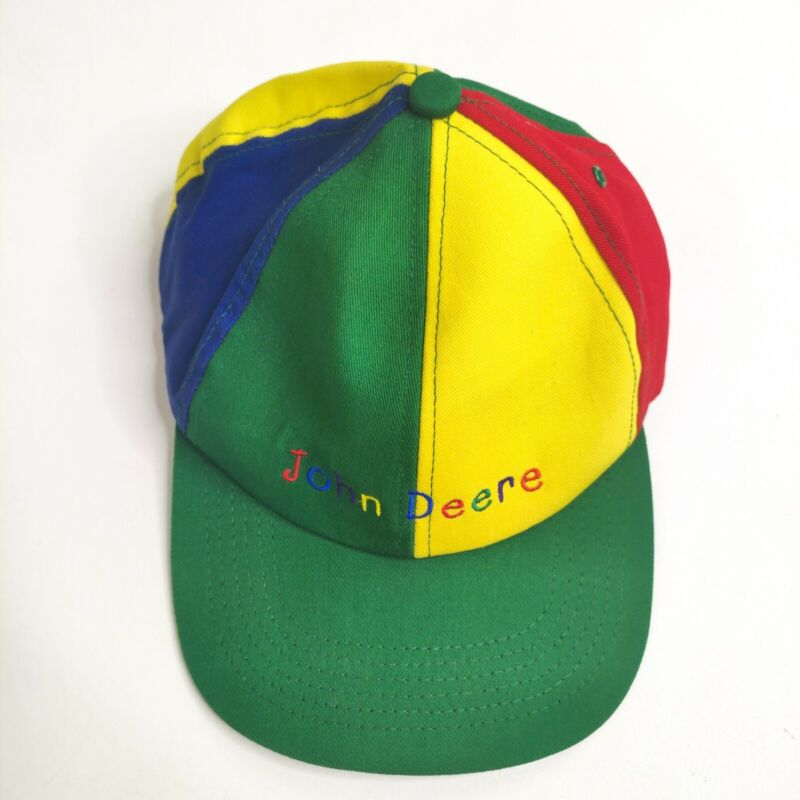 Vintage K Products Colorful John Deere Youth Hat Cap Strapback Made in USA RARE