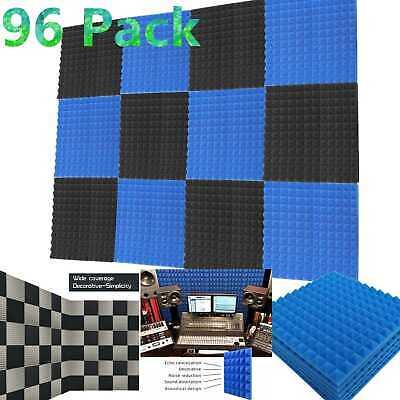 "96 Pack Acoustic Foam Panels Soundproofing Studio Foam Wall Pad  1"" X 12"" X 12"""