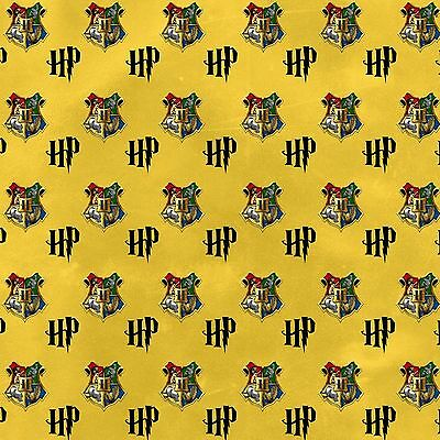 """GORGEOUS """"HARRY POTTER"""" INSPIRED PRINTED FABRIC SHEET..HAIR BOWS, CRAFTS"""