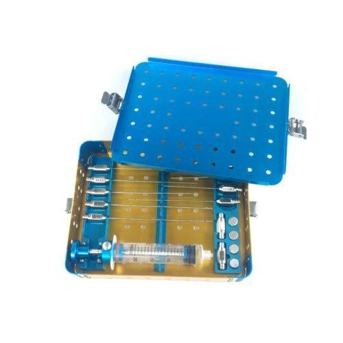 Liposuction face Fat Cannula Kit Box Stem Cell Lipo Fat Transfer Metal Box