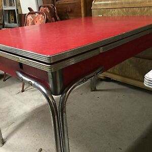 Formica Tables Red and Grey London Ontario image 5
