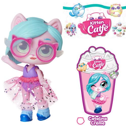 Jakks Series 2 CATALINA CREME Kitten Catfe Doll Purrista Girls Pink Glasses