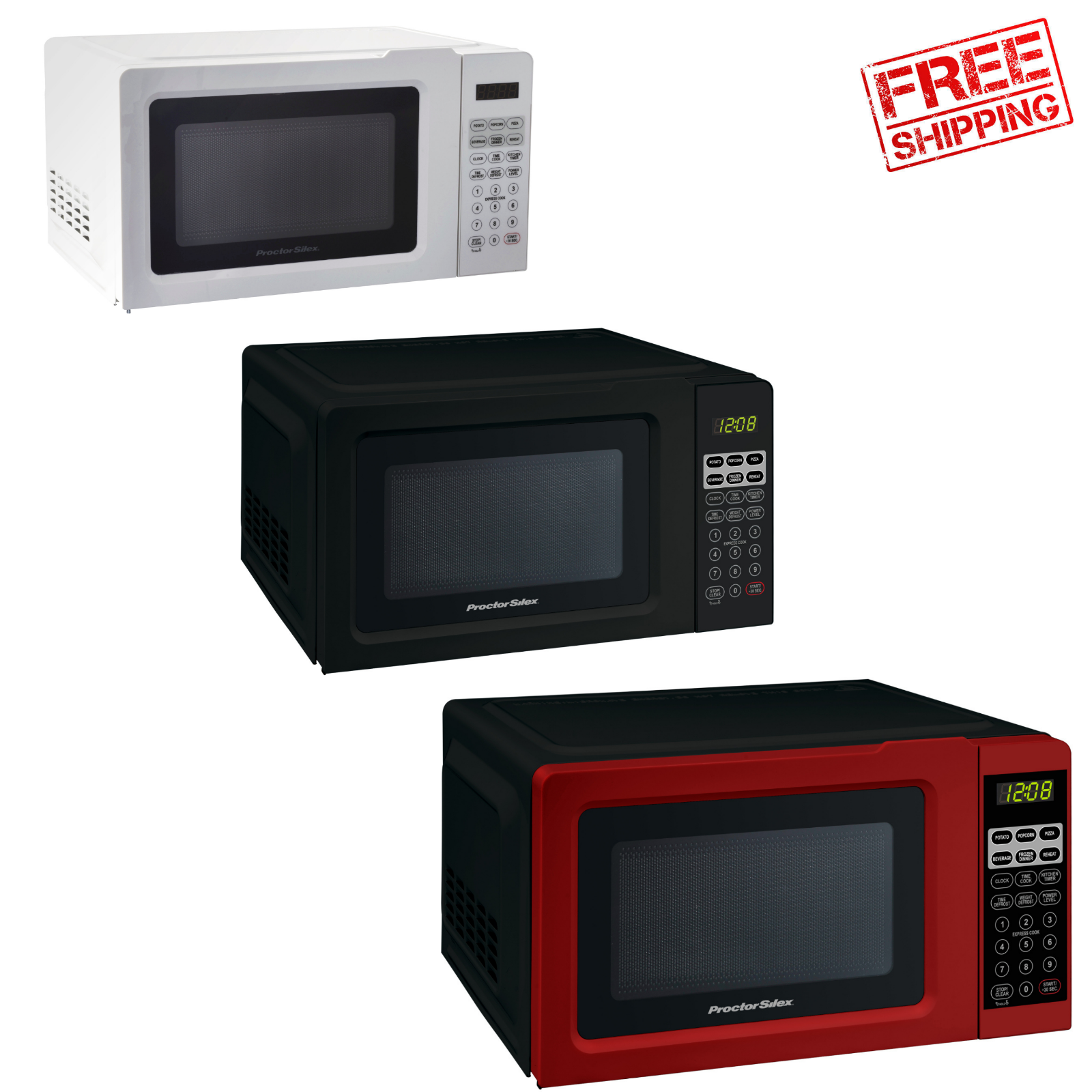 Digital Countertop Microwave Oven 0.7 cu ft 700W Kitchen Home Office Appliance