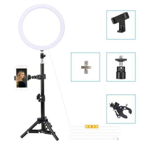 """ZOMEI 10"""" LED Ring Light Dimmable Lighting with Stand/Phone"""
