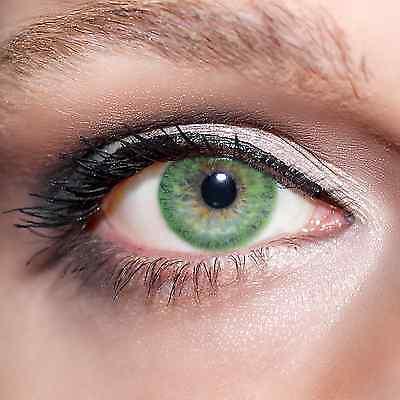 Grüne Kontaktlinsen farbige, mit Plus & Minus Stärken, - Grüne Farbige Kontaktlinsen