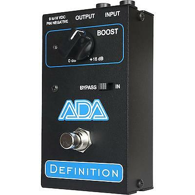 ADA Amplification Definition Clean Pickup Boost Discrete Custom Guitar Pedal NEW