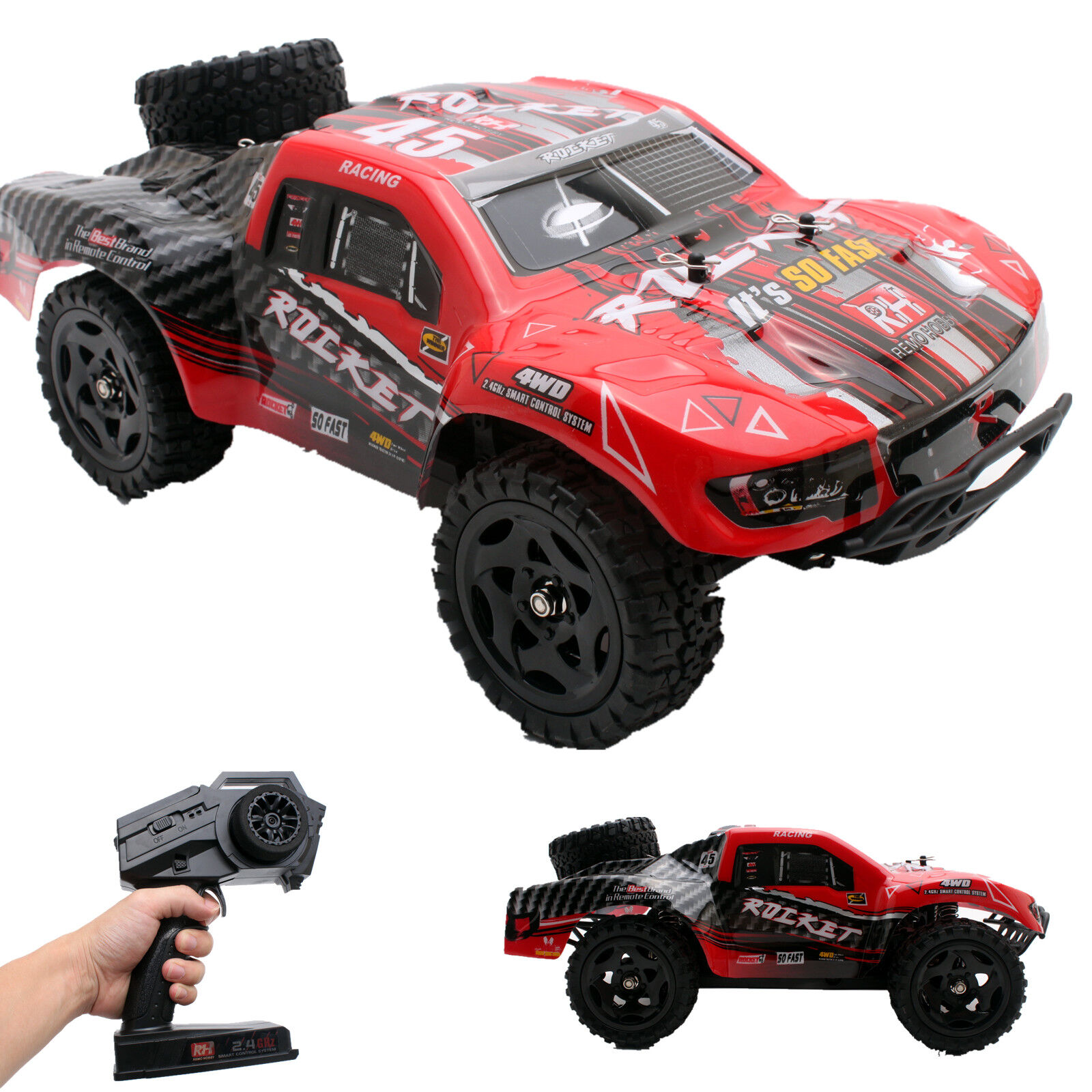 REMO 1/16 RC Truck 2.4Ghz 4WD High Speed Off-road RC Car Sho