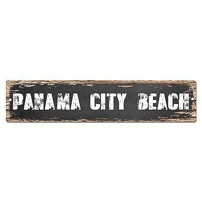 SP0366 PANAMA CITY BEACH Street Sign Bar Store Cafe Home Kitchen Chic Decor (City Beach Stores)