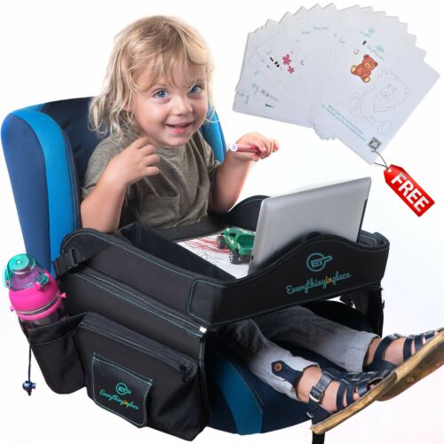 Kids Travel Tray Toddler Car Seat Tray Lap Table Touchscreen Phone Tablet Holder