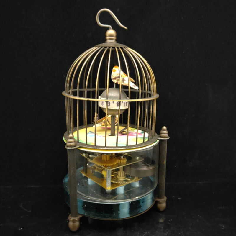European Exquisite Brass Classical Mechanical Birdcage Model Clock S089