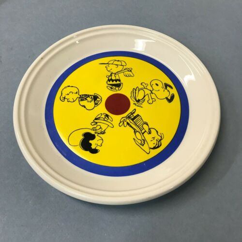 VINTAGE CHARLIE BROWN IROQUOIS CHINA PLATE- BRIGHT COLORS- SNOOPY-PIG PEN-LUCY