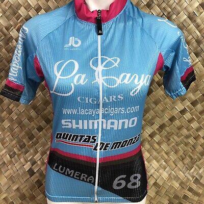 JB Ropa Deportiva Medium Blue Pink La Caya Cigars Full Zip Cycling Jersey segunda mano  Embacar hacia Mexico