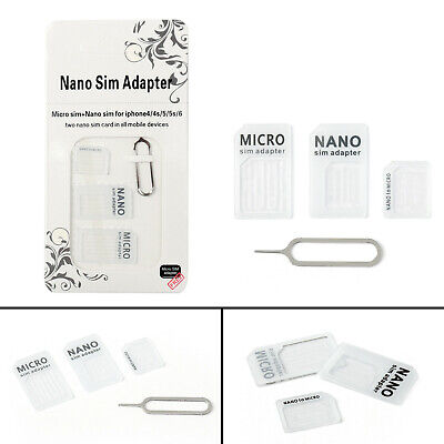 Genuine 4-in-1 SIM Card Adapter Nano to Micro Standard Converter US Seller