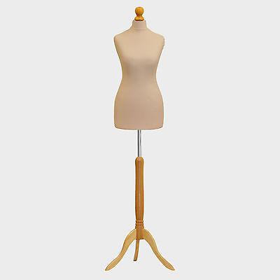 Kyпить Female Tailors Dummy Cream Dressmakers Fashion Students Mannequin Display Bust на еВаy.соm