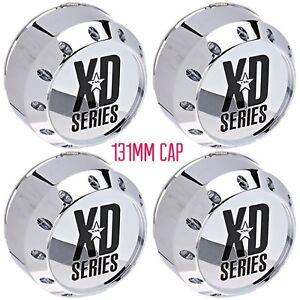 4 NEW KMC XD CENTER CAPS SET OF 4 464K131-2 CHROME 8 LUG HOSS BADLANDS 795 779