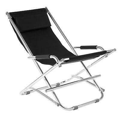 Maison By Premier Black Garden Chair Strong Aluminium Frame