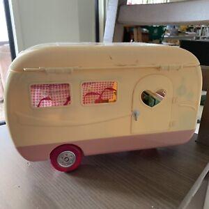 Vintage barbie caravan camper