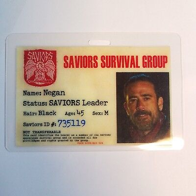 The Walking Dead Id Abzeichen - Saviors Leiter Negan Cosplay Kostüm Requisite