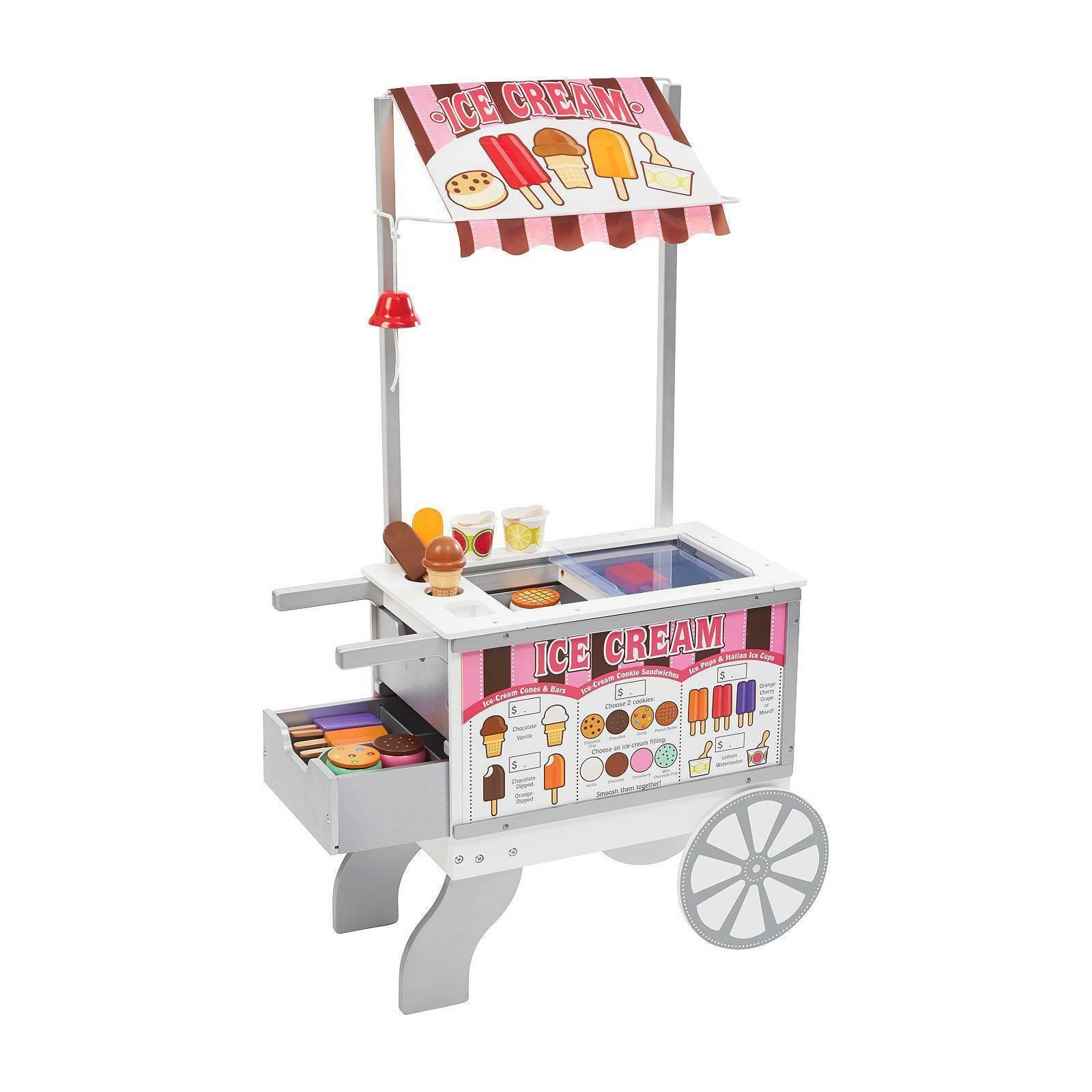 Melissa Doug Snacks And Sweets Food Cart Zp14168