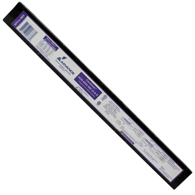 ADVANCE HCN-4S54-90C-2LS-G ELEC. BALLAST, 4-LAMP, F54T5HO 54W T5HO, 347/480V