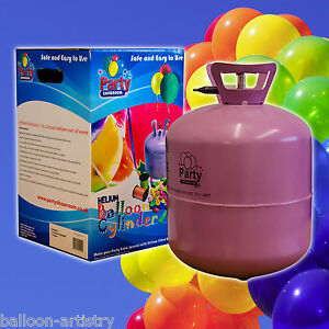 Disposable Helium Gas Cylinder Canister Fills 30 Balloons birthday party event