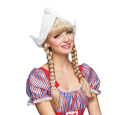 Damen Holländisch Mädchen Hut Milk Maid Oktoberfest Kostüm Kostüm Zubehör - Maid Kostüm Accessoires
