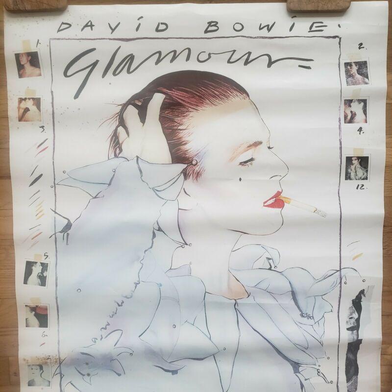 David Bowie Poster Glamour Original VINTAGE RARE 1980 Edward Bell eighties vtg