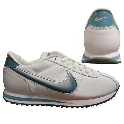 Nike Cortez Premium 2002 Womens White Lace Up Low Top Trainers 304064 141 B38A