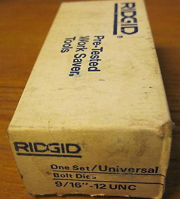 Rigid 916- 12 Unc Bolt Dies
